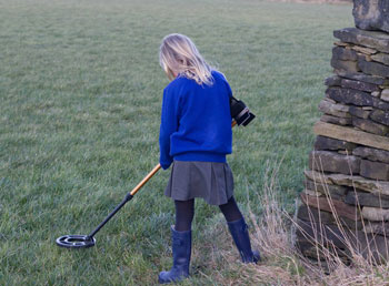 Metal detecting in the grounds