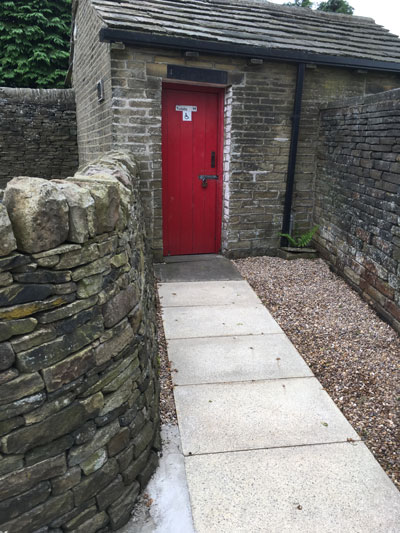 New flagged Toilet Path